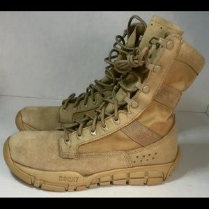 "Rocky C4T Trainer Men's Size 7.5 W Tan 8"" boots 🥾"